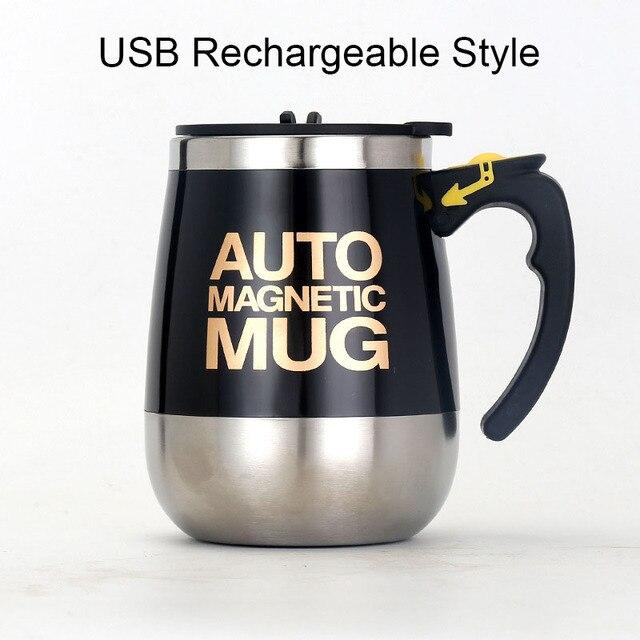 USB Rechargeable Automatic Self Stirring Magnetic Mug 7