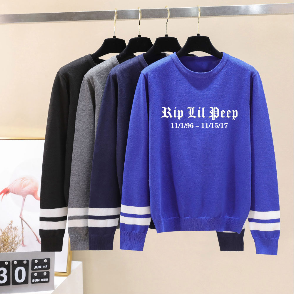 Unisex Sweater Lil Peep Sweater Autumn Fashion Print Pullover O-neck Knitted Sweater Men Women Long Sleeve Casual Lovers Sweater