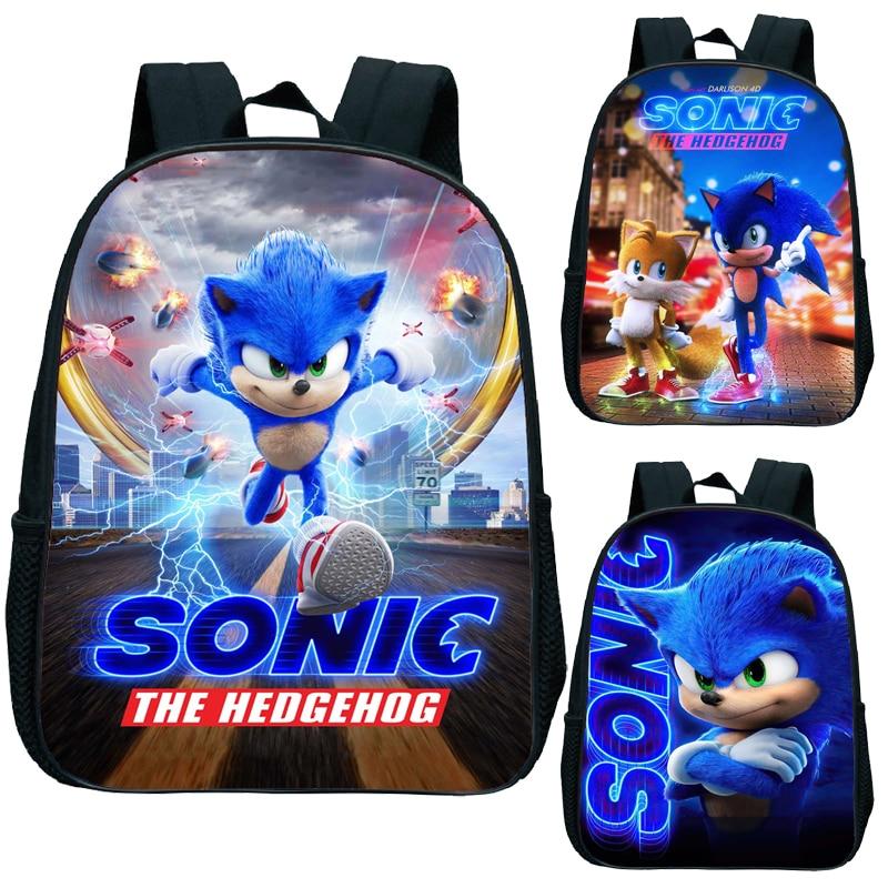 Cute Kids Sonic Kindergarten Backpack Printed Children School Bags Cool Pattern Child Bookbags Daily Rucksack Start School Gift