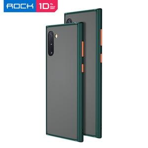 Image 1 - Voor Samsung Galaxy Note 10 Plus Case Rock Ultra Dunne Slim Clear Pc + Tpu Siliconen Hybride Telefoon Gevallen Matte pc Case