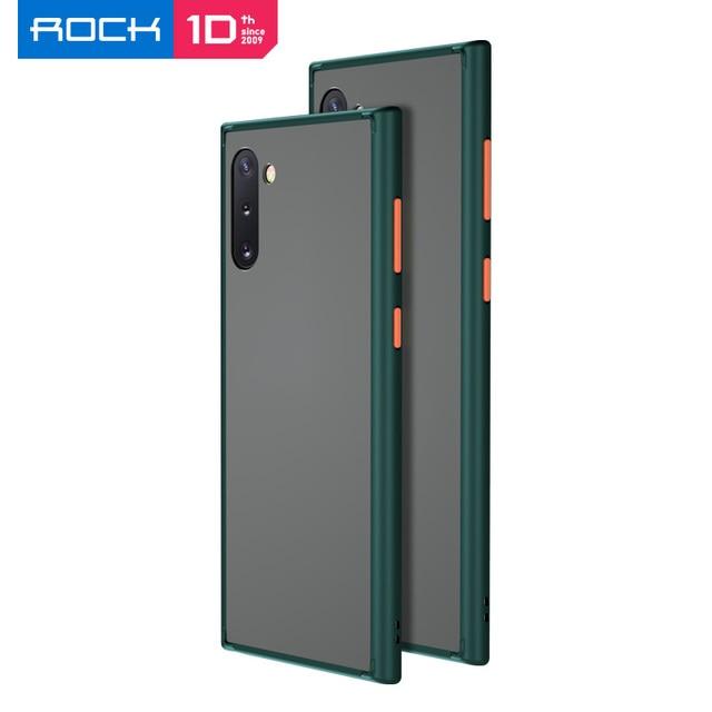 Voor Samsung Galaxy Note 10 Plus Case Rock Ultra Dunne Slim Clear Pc + Tpu Siliconen Hybride Telefoon Gevallen Matte pc Case