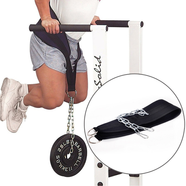 Weight Lifting Belt with Chain for Pull Ups  1