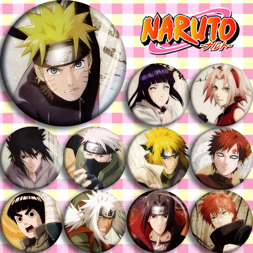 Japan Anime Naruto Cosplay Badge Cartoon Brooch Pins Collection Bags Badges For Backpacks Button Gifts