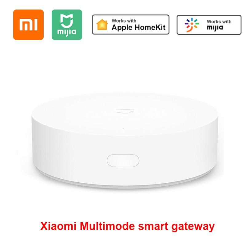 100% original xiaomi inteligente multifuncional gateway 2/3 wifi controle remoto centro rgb luz dispositivo de segurança em casa suporte aqara