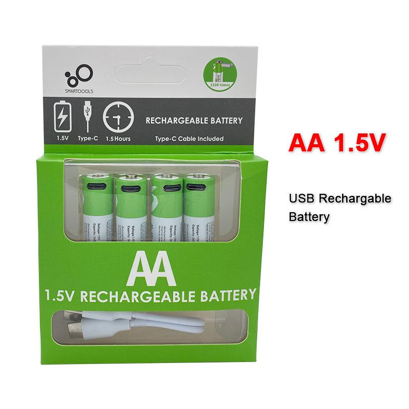 Новая оригинальная модель AA 1.5V 2600 mWh USB заряжает ионную батарею лития с дистанционно управляемой мышью для маленькой батареи вентилятора с э...