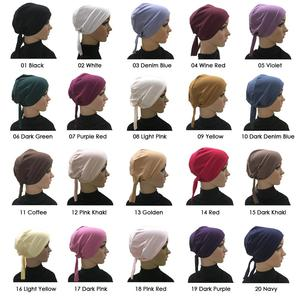 Image 2 - Cotton Under Scarf Hijab Inner Hat Women Muslim Bandana Ninja Beanie Bone Arab Bonnet Hats Cap Bandage Beanies Skullies Muslim