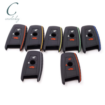 Cocolockey Silicone Car Key Cover Case for BMW 1 3 5 7 Series M1 M2 F05 F10 F20 F30 X1 F48 X3 X4 X5 E30 E34 E36 E39 3Buttons image