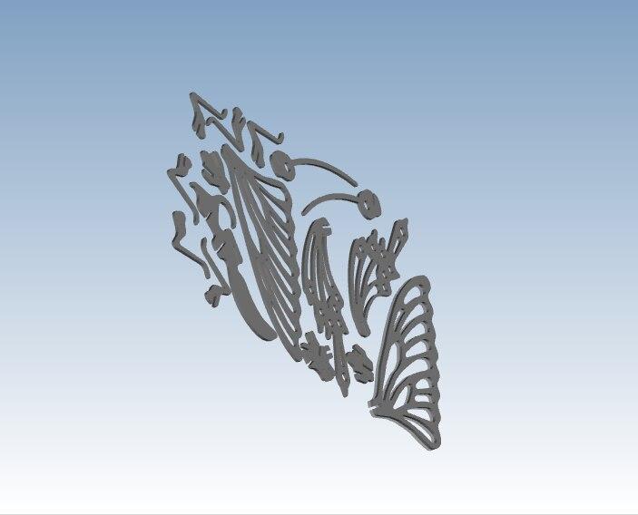 Eenvoudige Vlinder 3D afdrukken service rapid prototyping volgens uw ontwerp bestand ST118 - 6