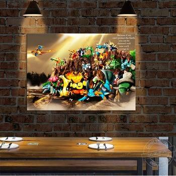 Póster de Pokémon sin marco de Pintura Anime de lona HD, póster de película cuadro de dibujos animados, imagen de pared para decoración de la habitación de los niños, bonito regalo