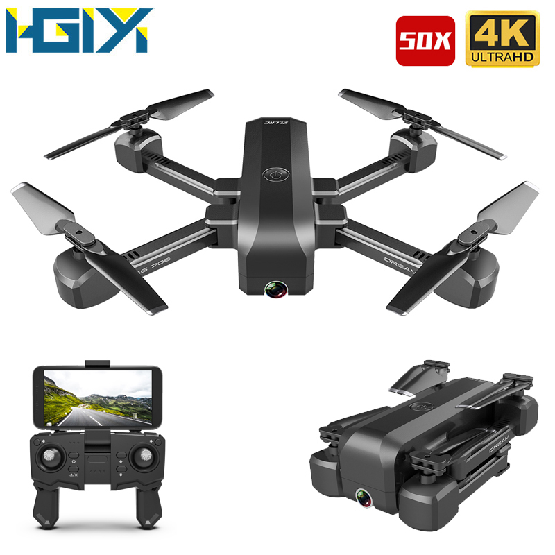 HGIYI SG706 RC Drone 4K HD Dual Camera 50X Times Zoom WIFI FPV Foldable Quadcopter Helicopter Professional Drones Stable Height(China)