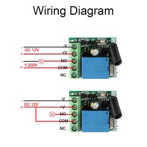 Image 5 - Rubrum transmissor de controle remoto, 433 mhz dc 12v 1ch rf + módulo universal receptor de relé rf para garagem chave abridora de porta