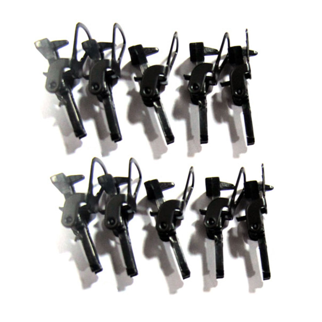 10Pcs/set 1:87 HO Scale Train Coupler Hooks Sand Table Decoration For Model Building Kits - Black