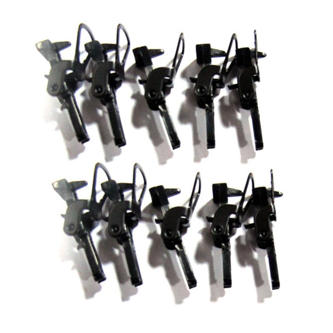 10 шт./компл. 1:87 в масштабе HO, соединительные крючки, песочные настольные украшения для моделирования, строительные комплекты, черные