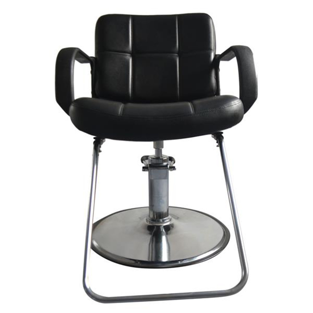 8837 Woman Barber Chair Black Hair Salon Iron Leather Sponge Barber Adjustable Hight Comfortable Seat