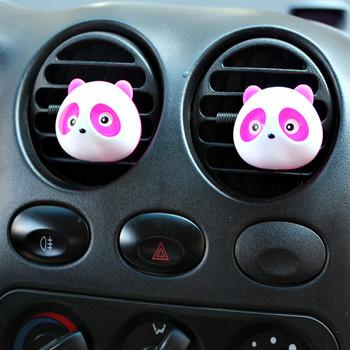 Nowy 2 x Panda śliczny samochód perfumowany odświeżacz powietrza akcesorium samochodowe dla samochodów Home Office Panda powietrza Fesehener stojak perfumy tabletki # PY10 tanie i dobre opinie CN (pochodzenie) Panda Air Fesehener Perfume tablets 4 0cm 19 0cm Lemon Z tworzywa sztucznego Stałe Air Freshener Auto Accessory