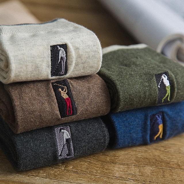 Embroidery Men's Cotton Socks