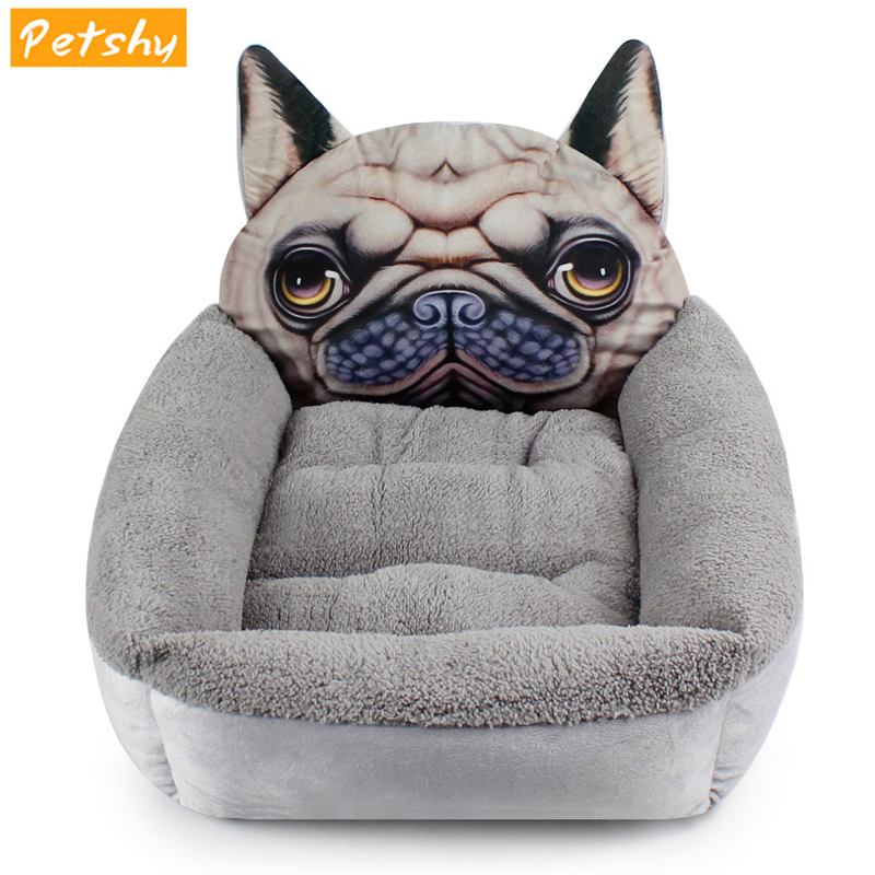 Petshy Plush Warm Lamb Cashmere Cat House Bed Puppy Kitten Small Dog Kennel Nest Sleeping Pad Mattress Pet Bed Cat Products