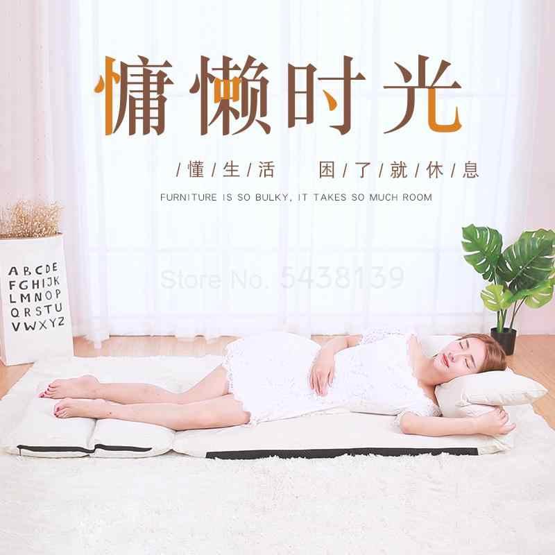 Yaratıcı tembel kanepe japon rahat katlanır tek tatami yatak küçük daire arkalığı uzanmış sandalye basit