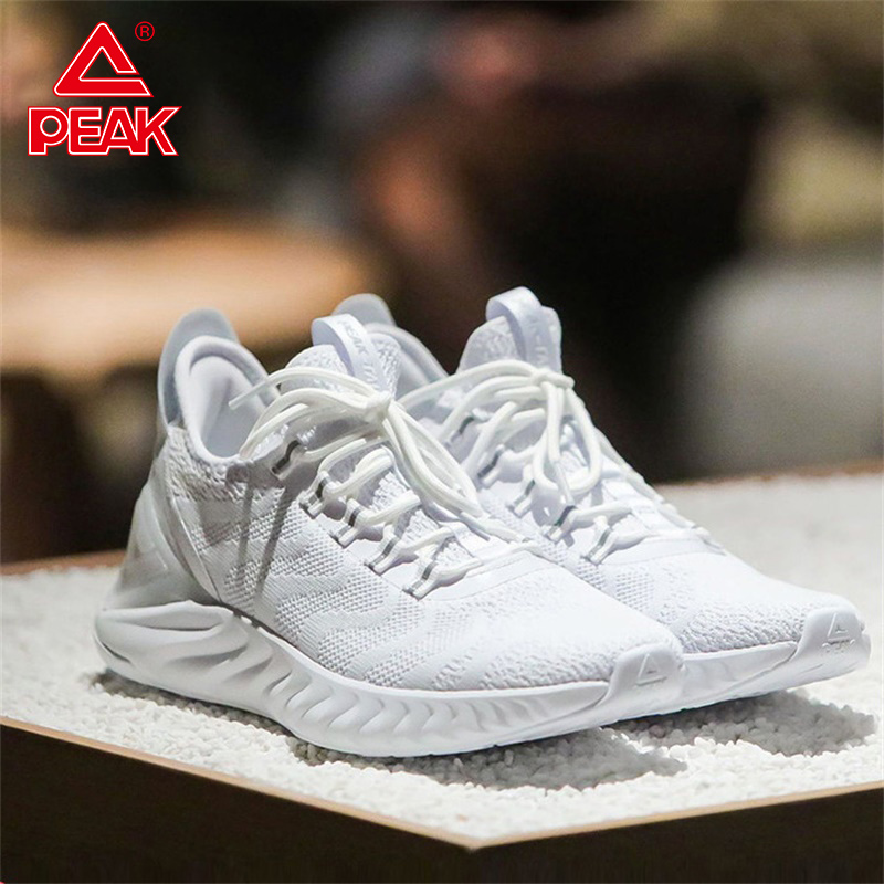 PEAK TAICHI Men Running Shoes Lightweight Shock Absorbing Sports Shoes Adaptive Athletic Shoes Gym Sneakers TAICHI Couple Shoes