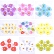 artificial flowers silk daisy artificial gerber daisy for home decoration artificial daisy for wedding decoration 50Pcs/lot 4cm Artificial Flowers Silk Sunflower Daisy Flower Head Use For Wedding Home Party Decoration DIY Wreath Fake Flowers