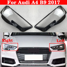 Samochód przedni reflektor klosz do Audi A4 B9 2017 reflektor samochodowy abażur Lampcover latarka czołowa pokrywy szklane soczewki Shell czapki