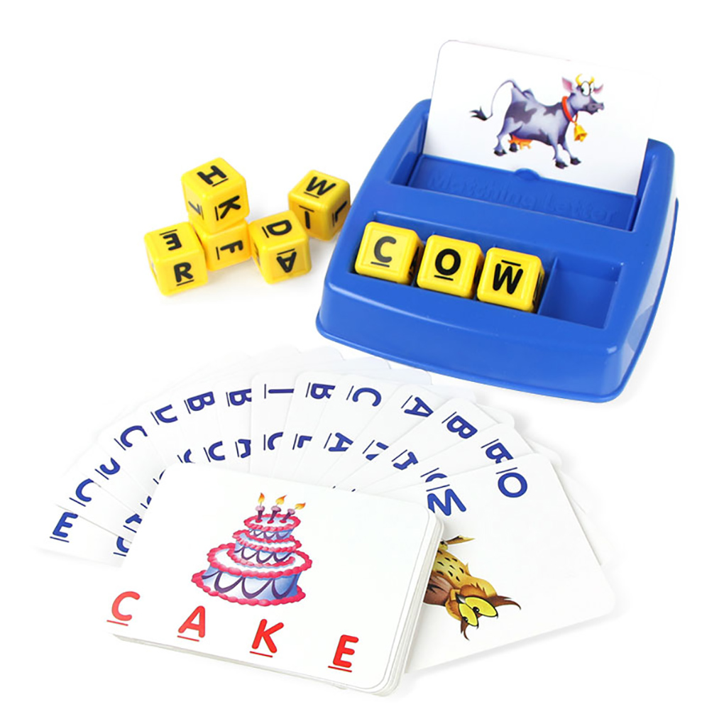 Matching Letter Children Early Education English Correcting Reading And Spelling With Images Word Card Education Toys Kids