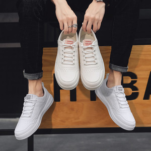 Image 4 - Casual Shoes Sneakers Men PU Leathable Autumn/Winter Fashion White Shoes Man Round Toe Classics High Quality Leisure Board Shoes