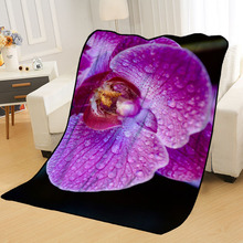 Blankets Your-Picture Custom Throw Beds Travel for Soft-Tr DIY Orchid-Flowers Personalized