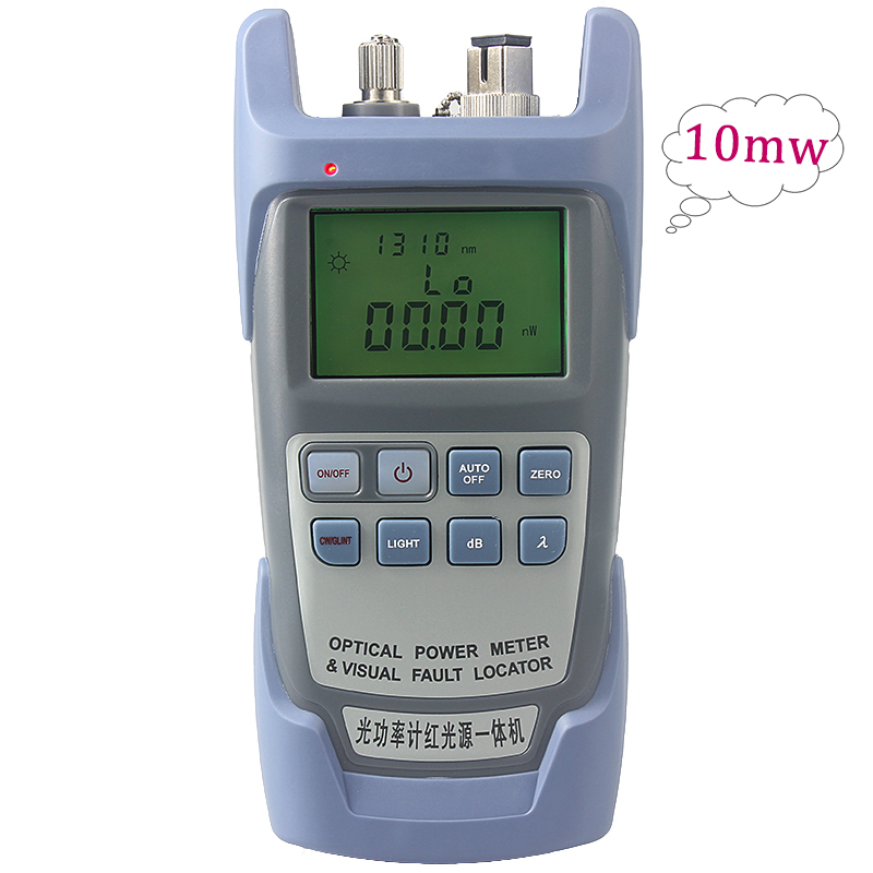 10mw Or1mw All-IN-ONE Fiber Optical Power Meter -70 To +10dBm And 1mw Or10mw 10km Fiber Optic Cable Tester Visual Fault Locator
