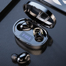Tws bluetooth 5.1 fones de ouvido 2200mah caixa carregamento sem fio fone display led mini hd estéreo esportes à prova dheadset água
