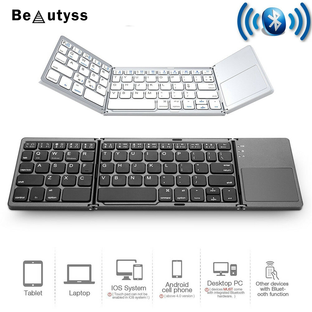 Folding Wireless Bluetooth mini ipad Keyboard for phone iOS Android sanlepus keyboards clavier teclado image