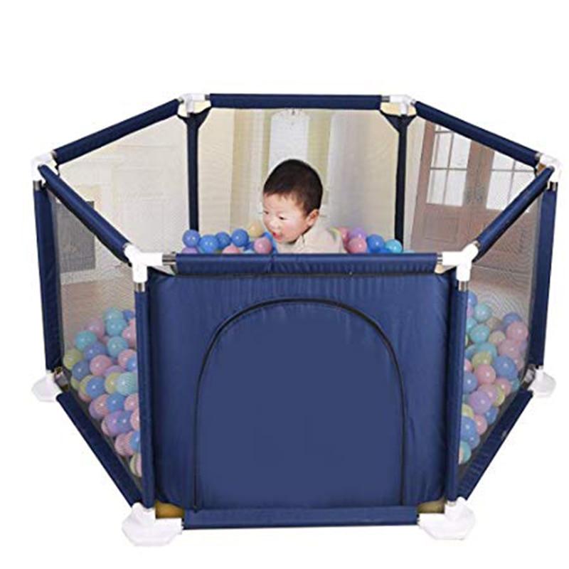 Baby Toddler Children's Hexagonal Playpen Playard Toys Washable Ocean Ball Pool Set   Bumper Space Guard  Safe Crawling Mat