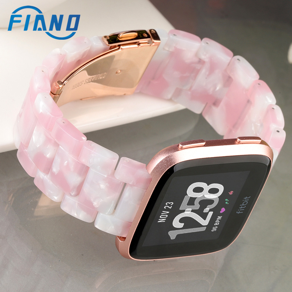 2020 New Pink Resin Watchband For All Fitbit Versa/Versa Lite /Versa 2 Watch Strap For Sport