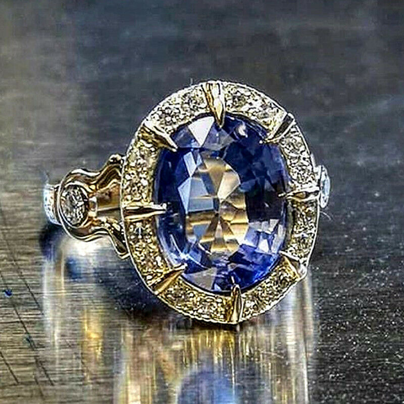 14K Gold Natural Sapphire Ring for Women Men Anillos De Bizuteria Gemstone Birthstone Jewelry Bague Diamant 14K Gold Ring Box