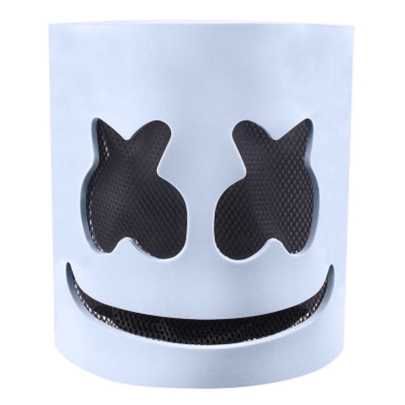 DJ Marshmello Mask With LED Light EVA Material Electroacoustic Halloween Holiday Cosplay Party Alone Flash Funk
