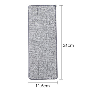 36*11.5cm Reusable Microfiber Pads Suit For Spray Free Hand Washing Mop Lazy Rag Home Cleaning Tool with Strong Water Absorption