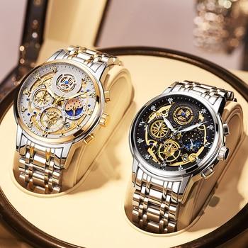2021 Watch Top Brand New Fashion Men's Watch Stainless Steel  Luxury Waterproof  Sports Chronograph Quartz  Men's Relogio Masculino