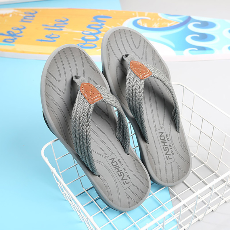 Men Flip Flops Summer Breathable Sandals Shoes for Men Non-slip Rubber Soles Slippers Fashion Outdoor Casual Shoes Big Size 47