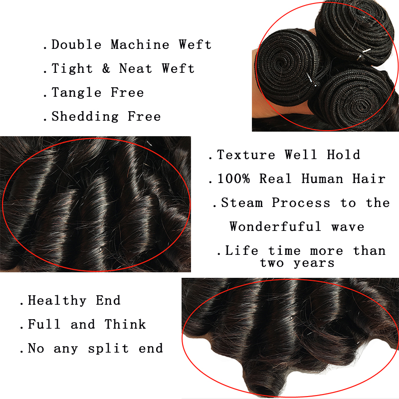 Bouncy Curly Hair Bundles With Closure Double Drawn Hair s  Curly Hair With Middle Part Closure 5