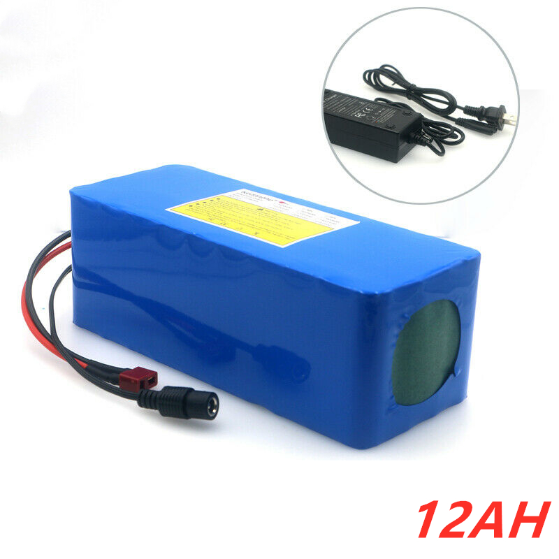 KAMPING 2020 New 36v battery 12.8ah 10S4P electric bicycle deep cycle battery for 500W motor Ebike with 15A BMS+battery charger
