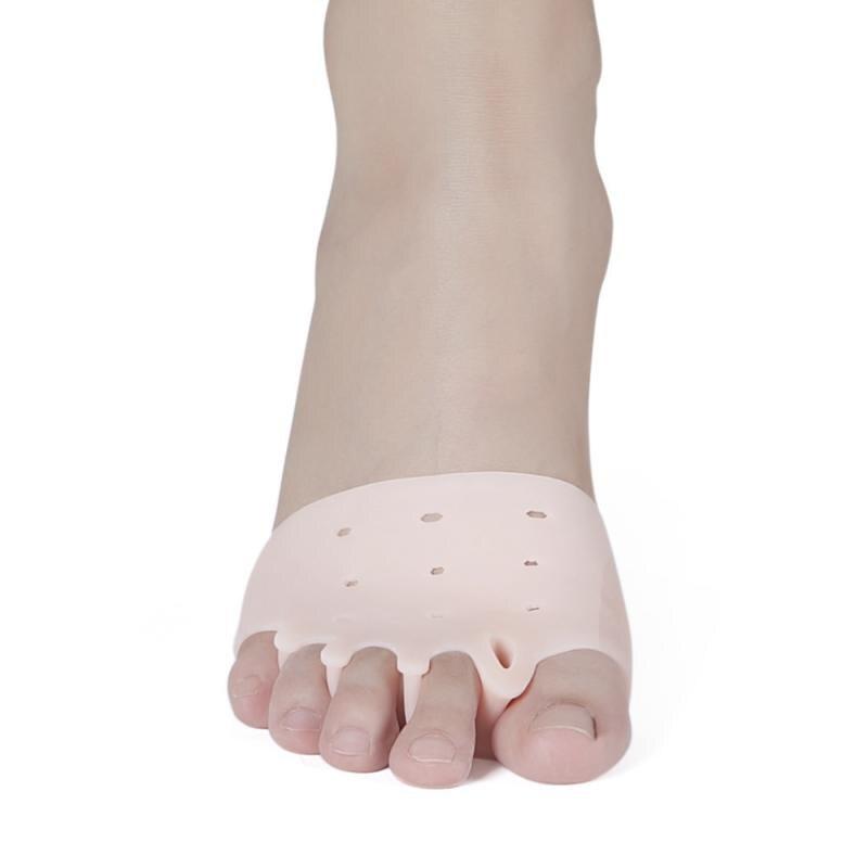 2pcs Toe Corrector Silicone 1Pair Gel Toes Separators Toe Pads Thumb Valgus Corrector Relief Foot Bunion  Protection Corrector