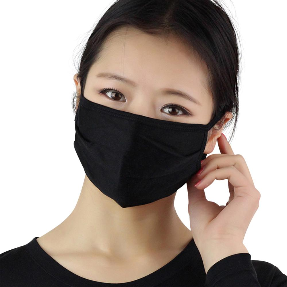 5pcs/lot Unisex Anti Dust Summer Silk Mask 2 Layered Breathable Sun Protection Knitted Earloop Mouth Mask Outdoor Face Cover