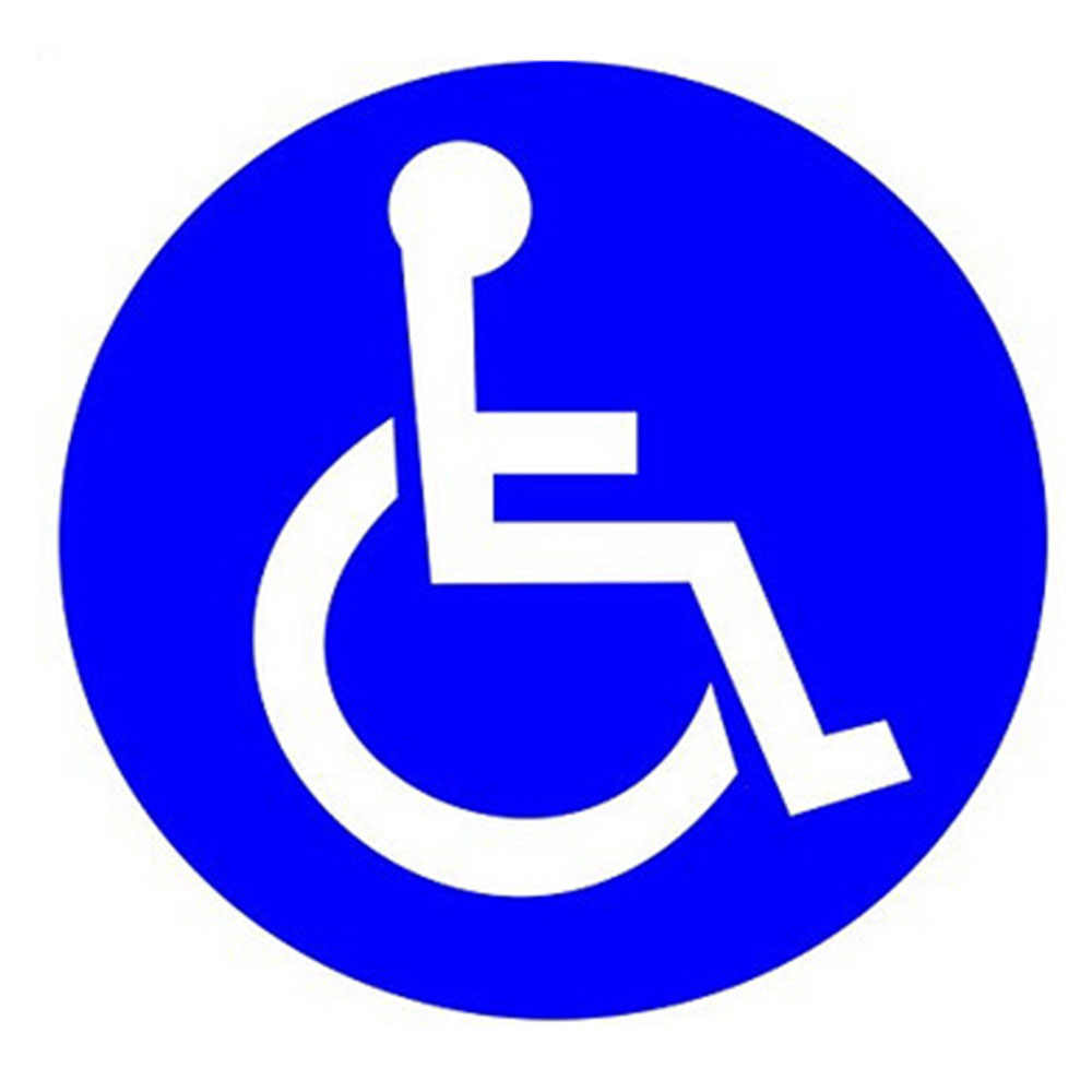"Wootile 2"" X 2"" Set of 200 Disabled Wheelchair Handicap Round Vinyl Decal  Sticker Label|set of|set 2set of stickers - AliExpress"