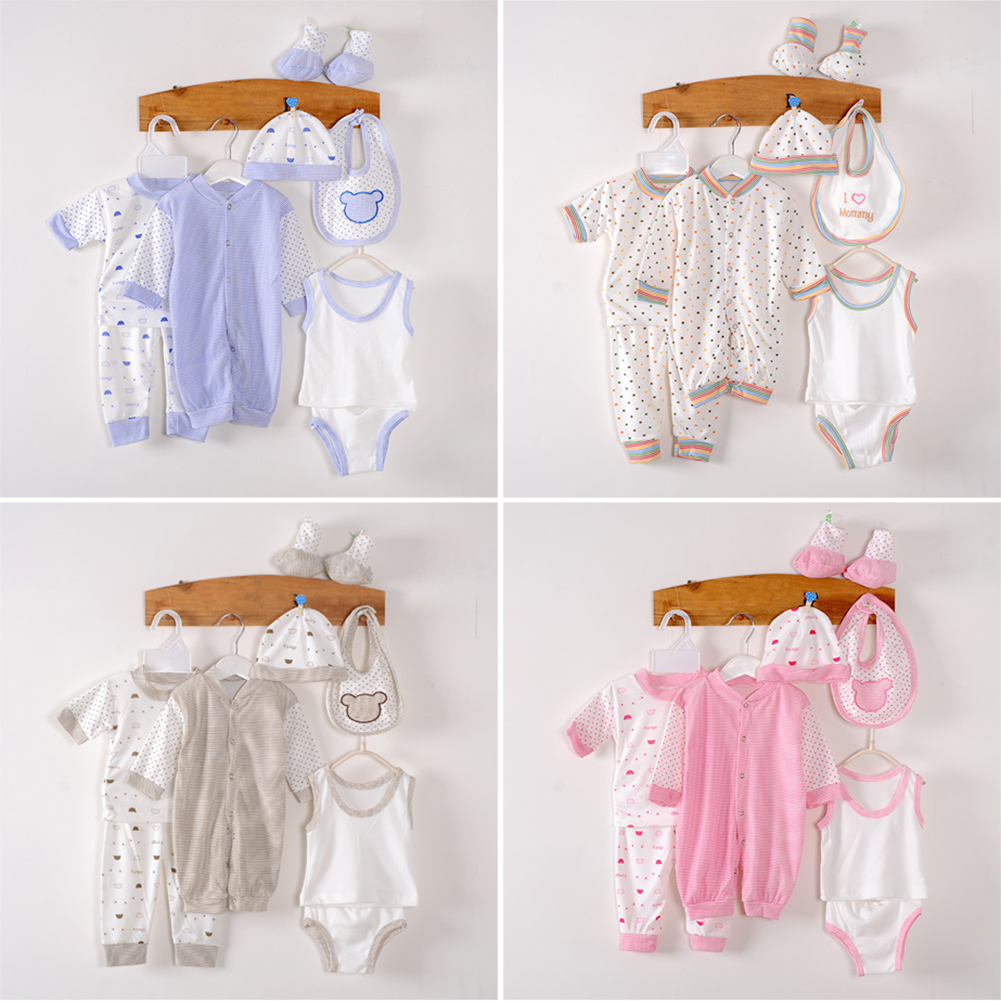 0-3m 8Pcs/set Cotton Newborn Clothes <font><b>Baby</b></font> <font><b>Clothing</b></font> Set <font><b>Baby</b></font> Girls Boys Clothes Set Infant Outfit Toddler Suit for New Born Gifts image