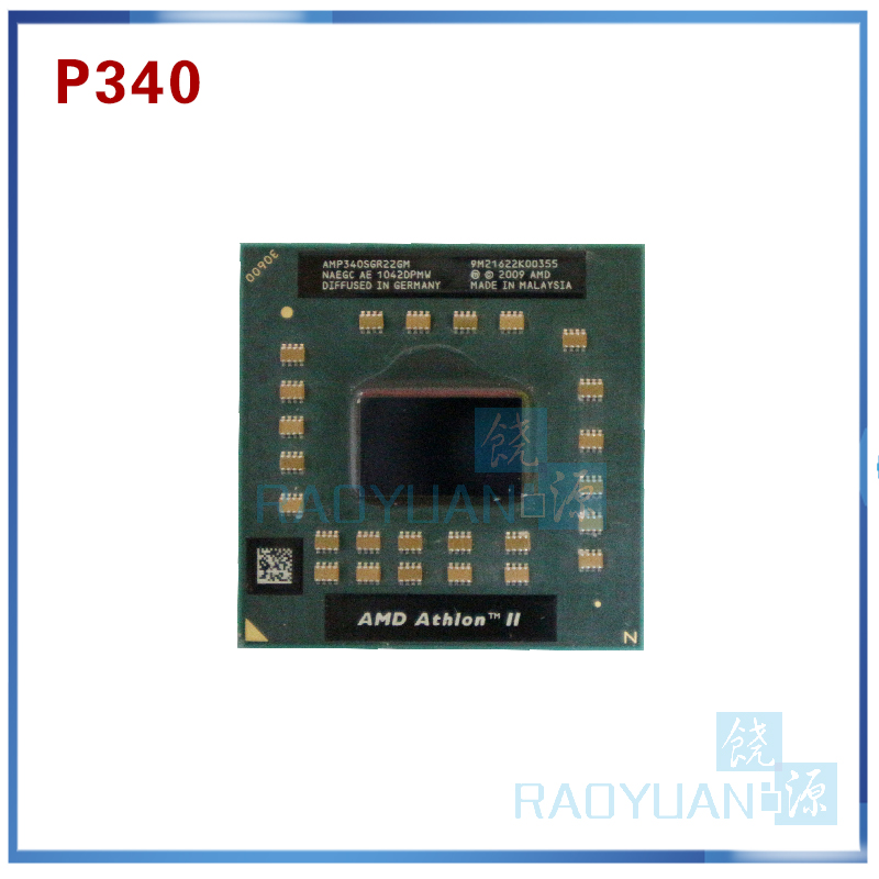 Laptop Cpu Processor AMD Athlon II Dual-Core P340 AMP340SGR22GM P 340 Mobile (1M Cache 2.2 GHz)  Socket S1/S1g4