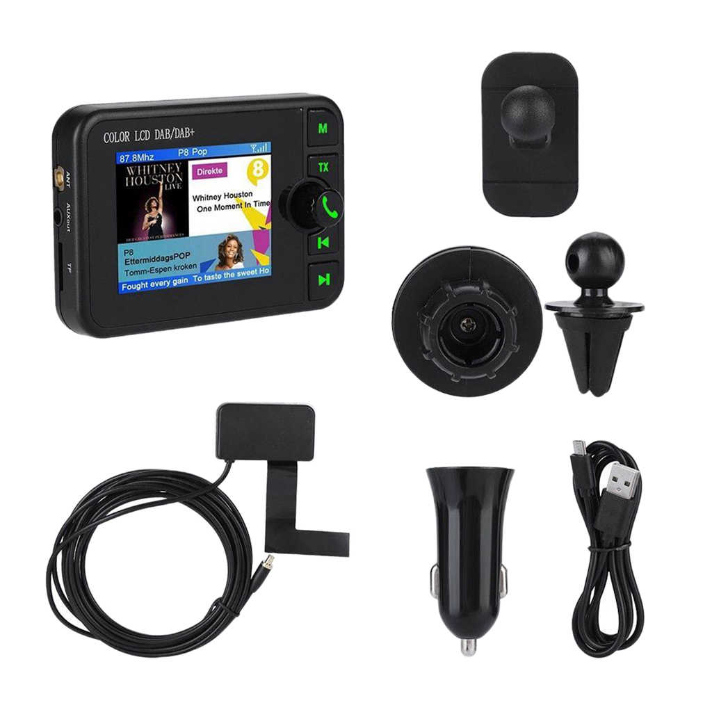 "2,4 ""portátil/DAB + Radio DAB Digital de bolsillo receptor de Audio Cable de carga USB"