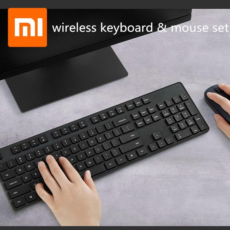 Xiaomi клавиатура мышь набор RF 2,4 GHz Беспроводная Офисная Клавиатура 104 клавиши для Windows PC совместимая USB игровая клавиатура русская паста|Комплекты  мышь плюс клавиатура|   | АлиЭкспресс