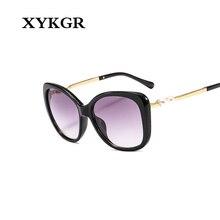 XYKGR new fashion retro pearl sunglasses ladies brand designer black sunglasses couple sunglasses UV400