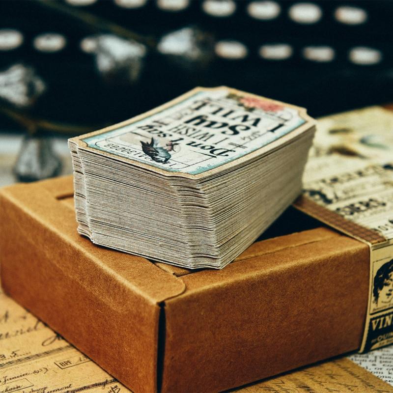 80 Sheets/lot Beautiful Rose'Lady Label Bullet Material Retro Plant Memo Bookmark Decor Journal Sticker DIY Scrapbooking Vintage