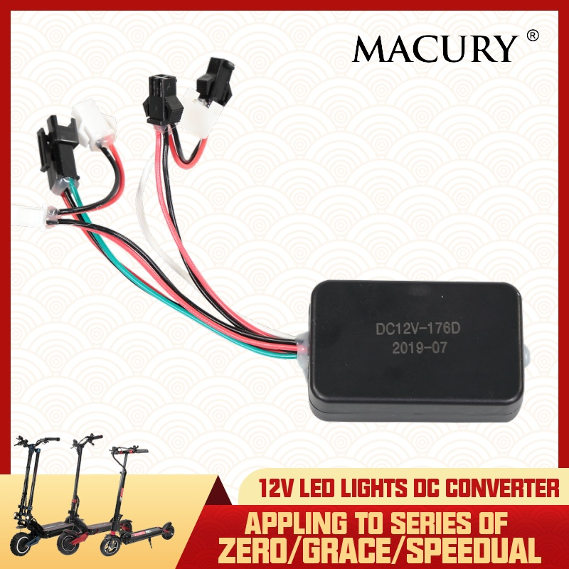 12V DC Converter Connecting Between LED Light and Controller for Grace Zero 8 9 10 10X 11X Speedual Mini Plus Electric Scooter|Scooter Parts & Accessories| |  - title=